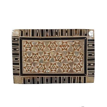 Caixa Decorativa de Madeira Egípcia 9,5cm (Modelo 2)