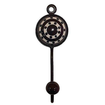 Gancho Unitário Cerâmica Redondo Modelo 14