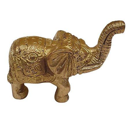 Mini Estátua de Elefante de Bronze 7 cm
