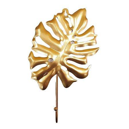 Gancho Unitário de Metal Costela de Adão Dourado 27cm