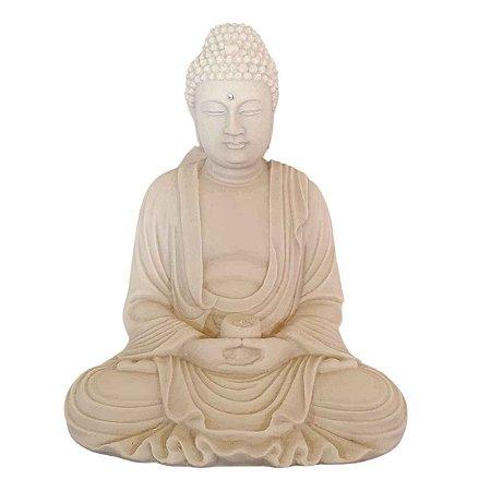 Estátua de  Buda Mudra Meditação Pó de Mármore (modelo 2)