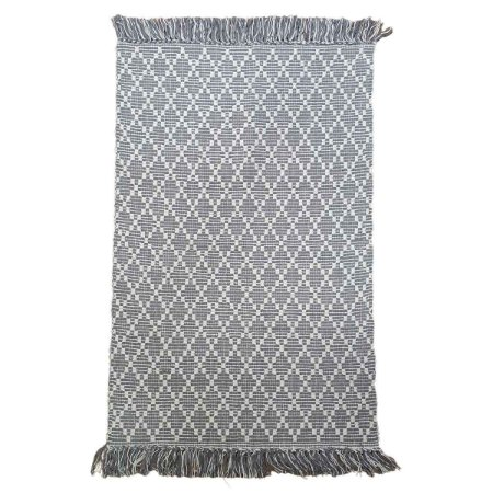 Tapete Dupla Face Adalli 100% Algodão Cinza 100x150cm