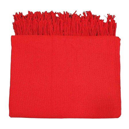 Manta Tibau Casal Larga Vermelha 2.50x2.10m