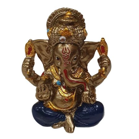 Mini Ganesha de Resina Azul Marinho 5cm
