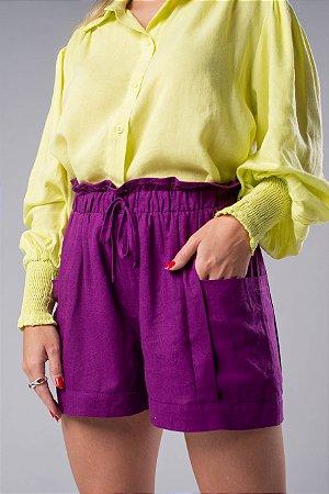 Camisa lime punho