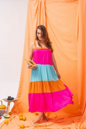Vestido Fruit Color