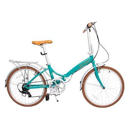 Bicicleta Dobrável Rio XL 24 Turquesa - Durban