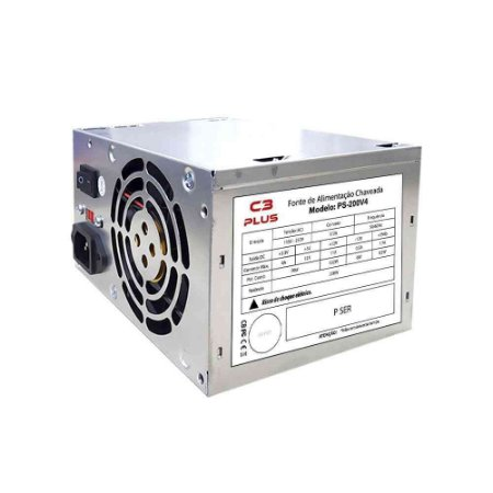 Fonte C3Tech PS-200V4 ATX 20+4