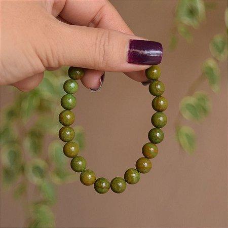 Pulseira masculina pedra natural jaspe