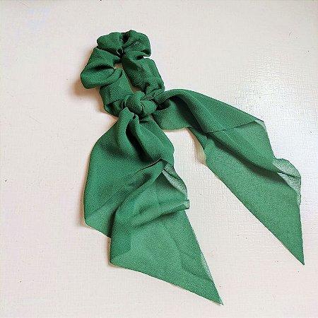Elástico para cabelo scrunchie liso verde