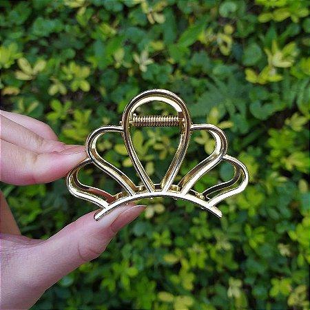 Piranha de cabelo concha metal dourado