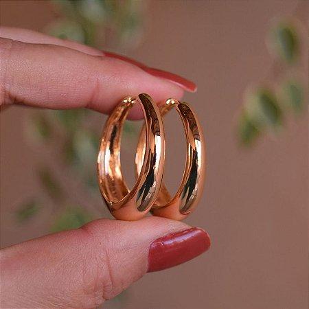 Brinco argola ouro semijoia 13a04120