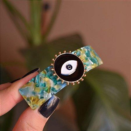 Presilha acrílico verde olho grego