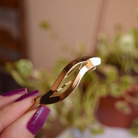 Presilha para franja ondulada dourado