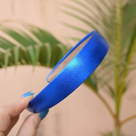Tiara metalizada azul