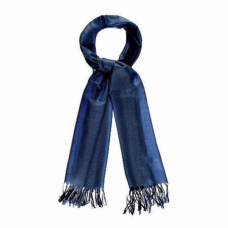 Pashimina viscose bicolor azul Pas 003