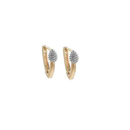 Brinco argolinha v ouro semijoia 19A09008