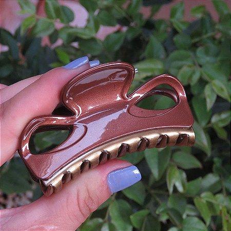 Piranha de cabelo francesa Finestra marrom e dourado F2844 MBO