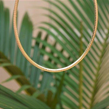 Colar snake ouro semijoia