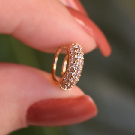 Piercing de encaixe indivual zircônia ouro semijoia