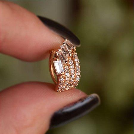 Piercing de encaixe individual  ouro semijoia 19K08032