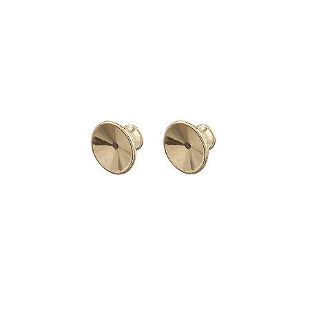 Tarraxa sutiã de orelha ouro  par semijoia