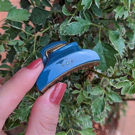 Piranha de cabelo francesa Finestra P azul e dourado strass F22938BD/2sBJ