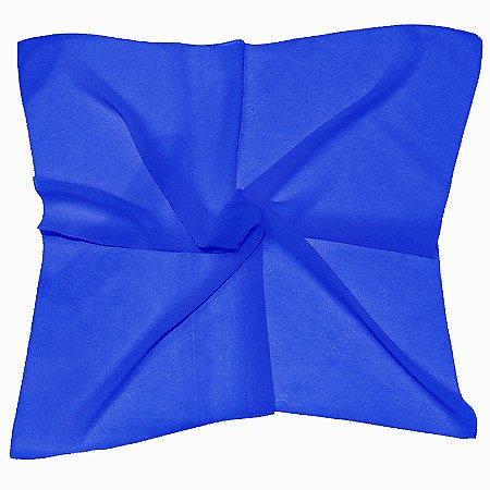 Lenço Quadrado liso azul royal
