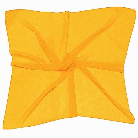 Lenço Quadrado liso amarelo vivo