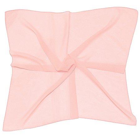 Lenço Quadrado liso rosa