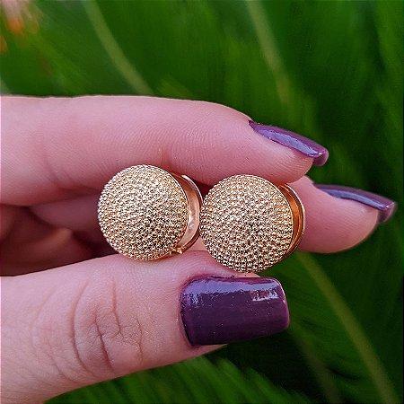 Brinco argola redonda ouro semijoia
