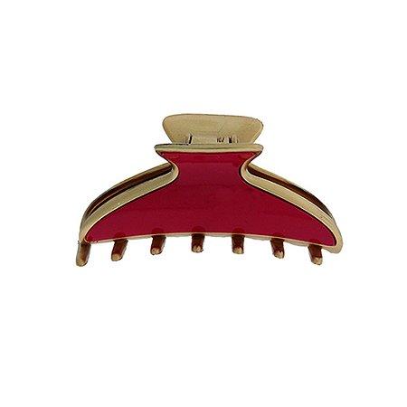 Piranha de cabelo francesa Finestra vermelho e dourado F4644GDV