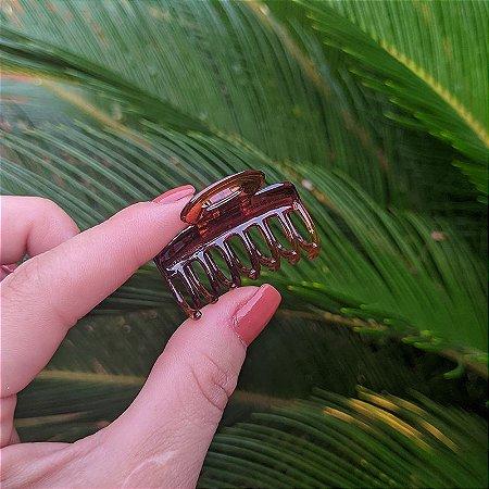 Piranha de cabelo francesa Finestra pequena marrom F4771