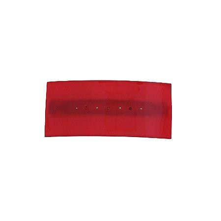 Presilha retangular francesa Finestra vermelho strass F2820VMO/3S