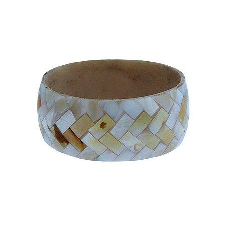 Bracelete madrepérola natural mosaico