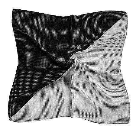 Lenço Quadrado poá preto e branco