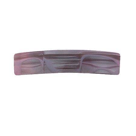 Presilha retangular nougat  rosa hand made in France F2833NG