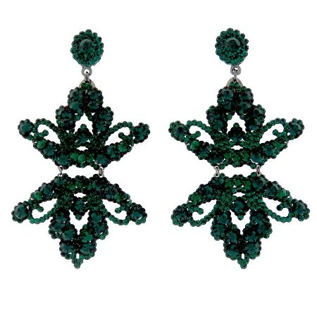 Brinco Leticia Sarabia cristal verde