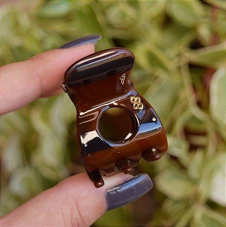 Piranha de cabelo vazada Bianca marrom 05 120
