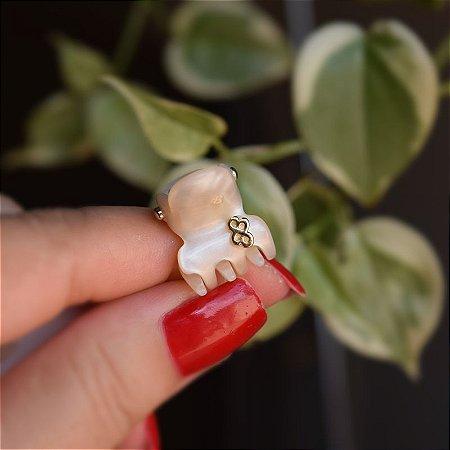 Piranha de cabelo mini Bianca madrepérola 05 157