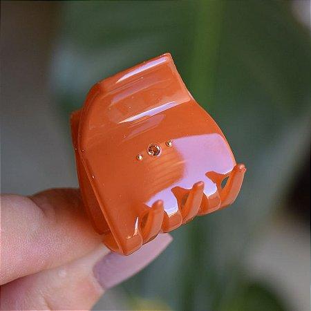 Piranha de cabelo francesa Finestra laranja queimado strass dourado N748/2auvre