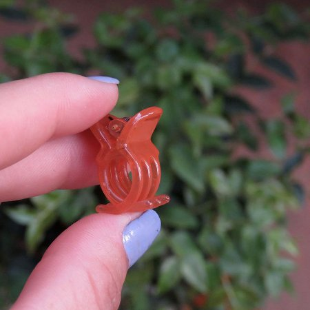 Piranha de cabelo francesa Finestra laranja queimado mini N281Auvre