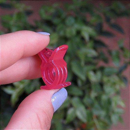 Piranha de cabelo francesa Finestra vermelho mini N281Rouge
