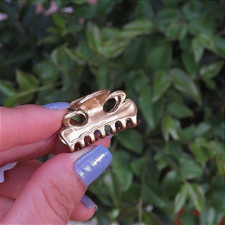 Piranha de cabelo francesa Finestra dourada mini N273Dou