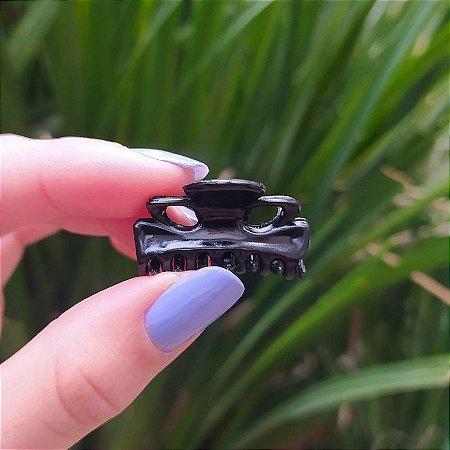 Piranha de cabelo francesa Finestra preto mini N273P