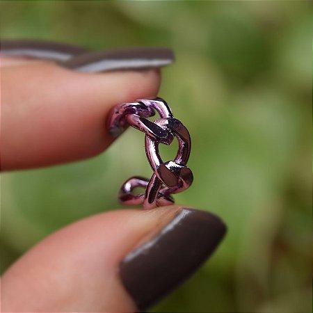 Piercing de encaixe corrente lilás semijoia