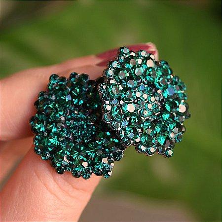 Brinco Leticia Sarabia médio cristal verde