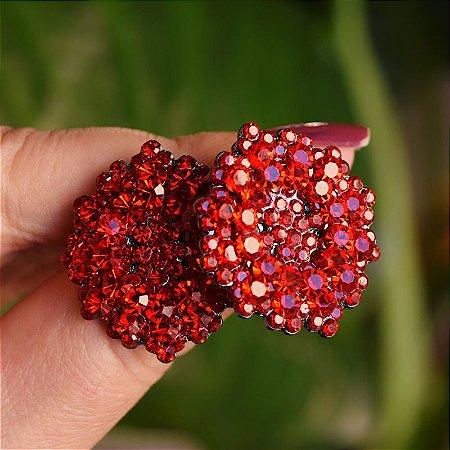 Brinco Leticia Sarabia médio cristal vermelho
