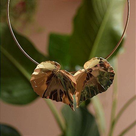 Choker Leticia Sarabia metal folha dourado