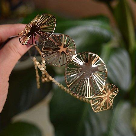 Choker Leticia Sarabia metal dourado